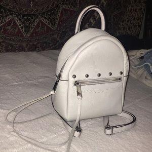 Rebecca Minkoff mini gray leather backpack